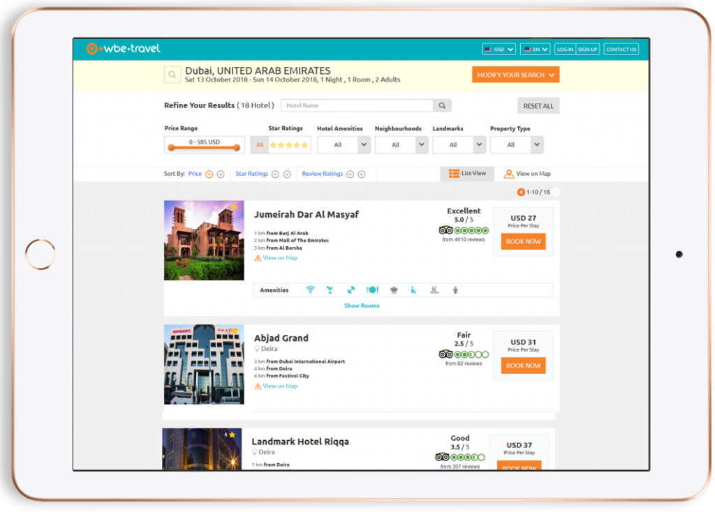 B2C Booking Engine - wbe.travel