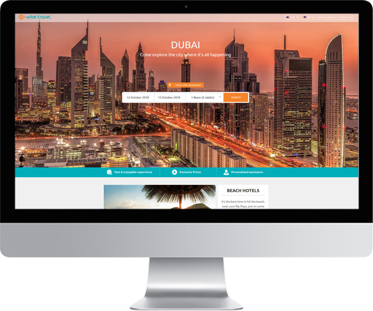 wbe.travel Content Management System - CMS