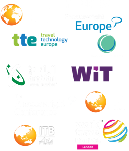 wbe.travel at travel trade events shows TTE, ITB Berlin, Arabian Travel Market, Phocuswright conference, ITB ASIA, CHINA, WTM, Web In Travel