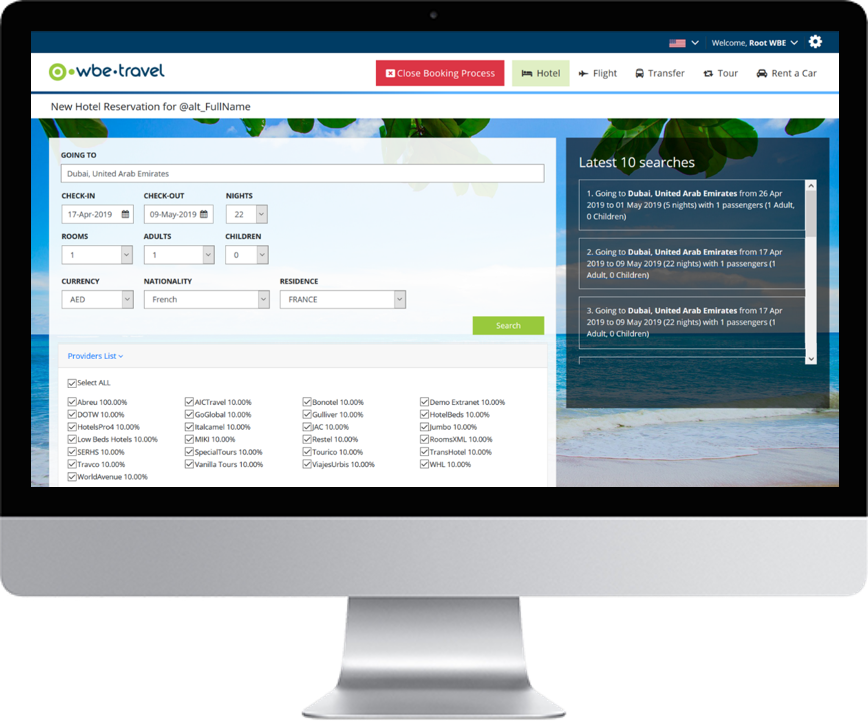 Tour Operator Online Booking System