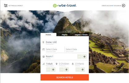 B2C Booking System - travel website booking - wbe.travel Travel Technology