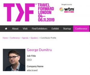 George DUMITRU - wbe.travel at WTM -How Can Travel SMEs Deliver in a Dynamic Market