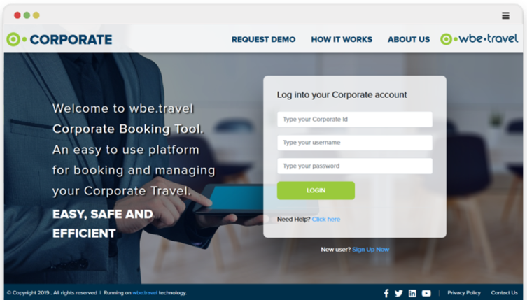 Corporate Booking Solutions by wbe.travel Travel Technology - 753 x 429