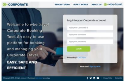Corporate Booking Tool - Business Travel Booking by wbe.travel