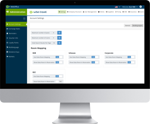 Mid Back Office management tools for travel companies by wbe.travel