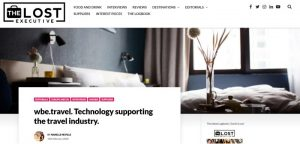 Technology supporting the travel industry - wbe.travel in The Lost Executive travel magazine - small