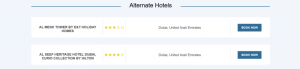 Events Module B2C Booking System - Alternate Hotels for events - small