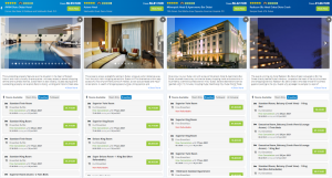 B2C Booking System Hotel comparison side by side